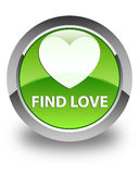 Find love glossy green round button. Find love isolated on glossy green round button abstract illustration Stock Photography