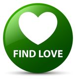 Find love green round button. Find love isolated on green round button abstract illustration Royalty Free Stock Photo