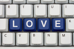 Find Love on the Internet Stock Image