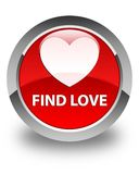 Find love glossy red round button. Find love isolated on glossy red round button abstract illustration Stock Images