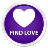 Find love premium purple round button. Find love isolated on premium purple round button abstract illustration Royalty Free Stock Photos
