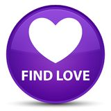 Find love special purple round button. Find love isolated on special purple round button abstract illustration Stock Photography