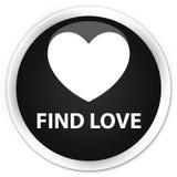 Find love premium black round button. Find love isolated on premium black round button abstract illustration Royalty Free Stock Images