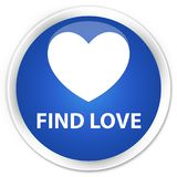 Find love premium blue round button. Find love isolated on premium blue round button abstract illustration Stock Images