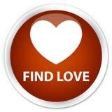 Find love premium brown round button. Find love isolated on premium brown round button abstract illustration Royalty Free Stock Image