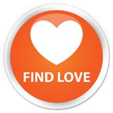 Find love premium orange round button. Find love isolated on premium orange round button abstract illustration Stock Photography