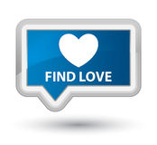 Find love prime blue banner button. Find love isolated on prime blue banner button abstract illustration Royalty Free Stock Photography