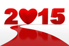Find love in 2015 Royalty Free Stock Image