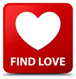 Find love red square button. Find love isolated on red square button abstract illustration Stock Images