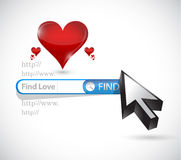 Find love. search online illustration design. Over a white background Stock Image