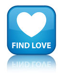 Find love special cyan blue square button Stock Photo
