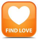 Find love special orange square button. Find love isolated on special orange square button abstract illustration Stock Images