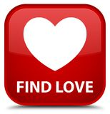 Find love special red square button. Find love isolated on special red square button abstract illustration Royalty Free Stock Image