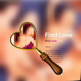 Find love, vector illustration. Royalty Free Stock Images