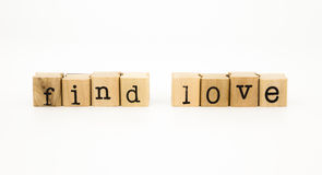 Find love wording, feeling and emotion concept Royalty Free Stock Photography