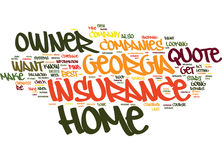 Find A Low Rate Georgia Home Owner Insurance Quote Text Background  Word Cloud Concept Stock Photos