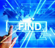 Find Map Displays Internet or Online Discover or Hunt Stock Images