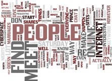 Find And Meet People Text Background  Word Cloud Concept. FIND AND MEET PEOPLE Text Background Word Cloud Concept Royalty Free Stock Photo
