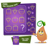 Find the missing item bulb. Visual Game for children. Task: find the missing item Royalty Free Stock Images