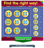 Find the missing item buttons 2. Visual Game for children. Find the missing item Stock Photography