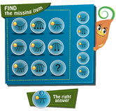 Find the missing item. Visual Game for children. Task: Find the missing item Stock Photography