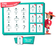 Find the missing item. Visual Game for children. Task: Find the missing item Stock Images
