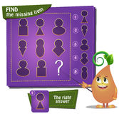 Find the missing part keyhole. Visual Game for children. Task: find the missing part Royalty Free Stock Photos