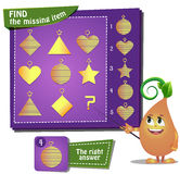 Find the missing part. Visual Game for children. Find the missing item Royalty Free Stock Photography
