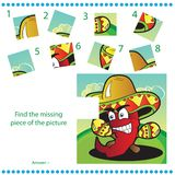 Find missing piece - Puzzle game for Children Royalty Free Stock Image