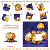 Find missing piece - Puzzle game for Children Stock Photo
