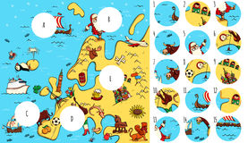 Find missing pieces, solution in hidden layer. Geography Visual Game: Europe. Task: Find missing pieces. Illustration is in eps10 vector mode, solution in hidden Stock Photo