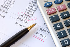 Find a mistake during auditing Stock Photos