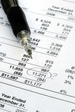Find a mistake in auditing the financial statement. Find a mistake when auditing the financial statement Stock Image