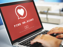 Find Mr Right One Valentine Romance Love Heart Dating Concept Royalty Free Stock Photography