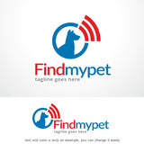 Find My Pet Logo Template Design Vector, Emblem, Design Concept, Creative Symbol, Icon Royalty Free Stock Image