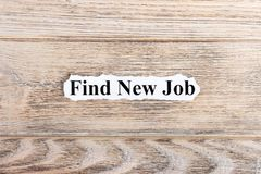 Find new job text on paper. Word find new job on torn paper. Concept Image Stock Images