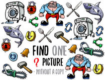 Find one picture educational game Stock Photos