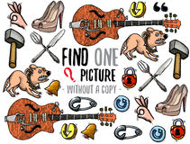 Find one picture educational game Stock Image