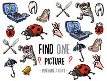 Find one picture educational game Royalty Free Stock Photo
