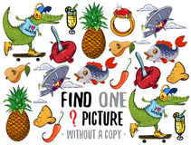 Find one picture educational game Royalty Free Stock Image