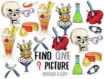 Find one picture educational game Royalty Free Stock Images