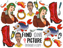 Find one picture educational game Royalty Free Stock Photography