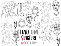Find one picture educational game Royalty Free Stock Photos
