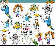 Find one picture game for kids Stock Images