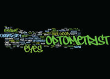 Find An Optometrist Text Background Word Cloud Concept Royalty Free Stock Image