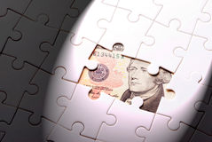 Find out wealth from the puzzle game Royalty Free Stock Image