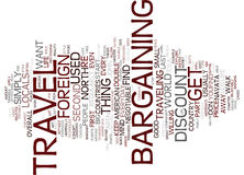 Find Out Why You Want To Bargain When You Travel In Foreign Countries Text Background  Word Cloud Concept Stock Photo