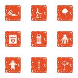 Find the pairs icons set, grunge style. Find the pairs icons set. Grunge set of 9 find the pairs vector icons for web isolated on white background Stock Image