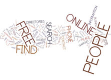 Find People Free Online Word Cloud Concept. Find People Free Online Text Background Word Cloud Concept Stock Photos