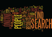 Find People Online Text Background Word Cloud Concept Royalty Free Stock Photography
